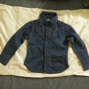 Wonderful Vintage 70's NOS Child's Denim Shirt  5